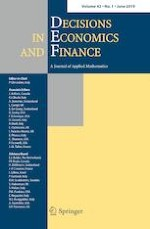 Decisions in Economics and Finance 1/2019
