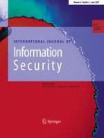 International Journal of Information Security 3/2009