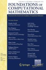 Foundations of Computational Mathematics 1/2011