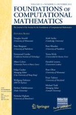 Foundations of Computational Mathematics 5/2011