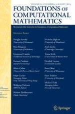 Foundations of Computational Mathematics 4/2014