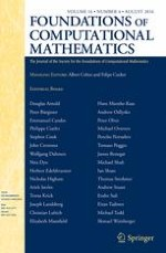 Foundations of Computational Mathematics 4/2016
