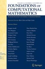 Foundations of Computational Mathematics 5/2016