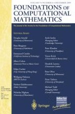 Foundations of Computational Mathematics 6/2009