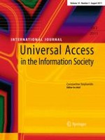 Universal Access in the Information Society 3/2011