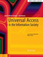 Universal Access in the Information Society 3/2013