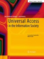 Universal Access in the Information Society 1/2015