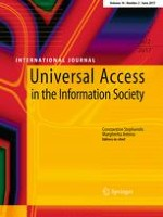 Universal Access in the Information Society 2/2017
