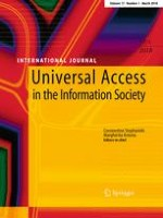 Universal Access in the Information Society 1/2018