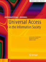 Universal Access in the Information Society 1/2019