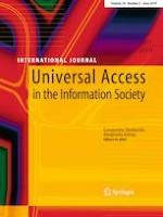 Universal Access in the Information Society 2/2019