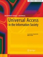 Universal Access in the Information Society 3/2007