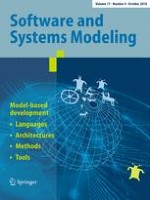Software & Systems Modeling 4/2018
