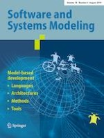Software and Systems Modeling 4/2019