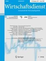 Wirtschaftsdienst 1/2009