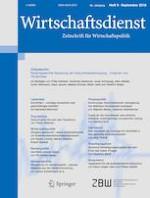 Wirtschaftsdienst 9/2018