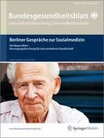Bundesgesundheitsblatt - Gesundheitsforschung - Gesundheitsschutz 8/2011