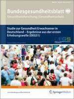 Bundesgesundheitsblatt - Gesundheitsforschung - Gesundheitsschutz 5-6/2013