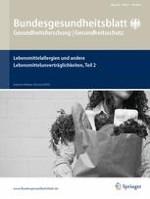 Bundesgesundheitsblatt - Gesundheitsforschung - Gesundheitsschutz 7/2016