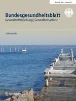 Bundesgesundheitsblatt - Gesundheitsforschung - Gesundheitsschutz 1/2017