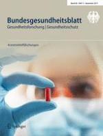 Bundesgesundheitsblatt - Gesundheitsforschung - Gesundheitsschutz 11/2017