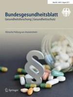Bundesgesundheitsblatt - Gesundheitsforschung - Gesundheitsschutz 8/2017