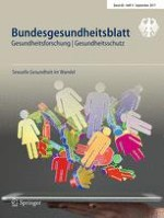 Bundesgesundheitsblatt - Gesundheitsforschung - Gesundheitsschutz 9/2017