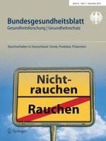 Bundesgesundheitsblatt - Gesundheitsforschung - Gesundheitsschutz 11/2018
