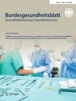 Bundesgesundheitsblatt - Gesundheitsforschung - Gesundheitsschutz 4/2018