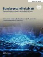 Bundesgesundheitsblatt - Gesundheitsforschung - Gesundheitsschutz 7/2018