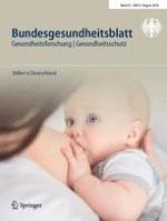 Bundesgesundheitsblatt - Gesundheitsforschung - Gesundheitsschutz 8/2018