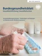 Bundesgesundheitsblatt - Gesundheitsforschung - Gesundheitsschutz 9/2018