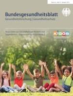 Bundesgesundheitsblatt - Gesundheitsforschung - Gesundheitsschutz 10/2019