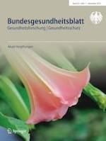 Bundesgesundheitsblatt - Gesundheitsforschung - Gesundheitsschutz 11/2019