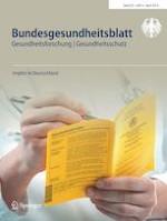Bundesgesundheitsblatt - Gesundheitsforschung - Gesundheitsschutz 4/2019