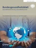 Bundesgesundheitsblatt - Gesundheitsforschung - Gesundheitsschutz 5/2019