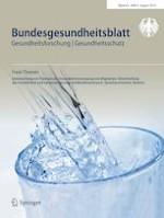 Bundesgesundheitsblatt - Gesundheitsforschung - Gesundheitsschutz 8/2019