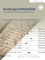 Bundesgesundheitsblatt - Gesundheitsforschung - Gesundheitsschutz 5/2020