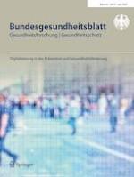 Bundesgesundheitsblatt - Gesundheitsforschung - Gesundheitsschutz 6/2020