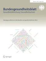 Bundesgesundheitsblatt - Gesundheitsforschung - Gesundheitsschutz 8/2021