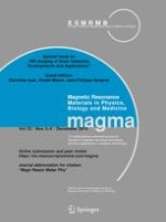 Magnetic Resonance Materials in Physics, Biology and Medicine 5-6/2010