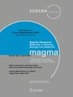 Magnetic Resonance Materials in Physics, Biology and Medicine 2/2016