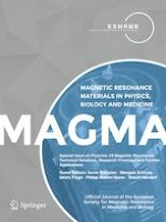 Magnetic Resonance Materials in Physics, Biology and Medicine 1/2019
