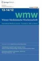 Wiener Medizinische Wochenschrift 13-14/2012