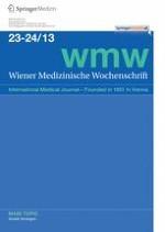 Wiener Medizinische Wochenschrift 23-24/2013