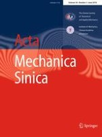 Acta Mechanica Sinica 3/2018