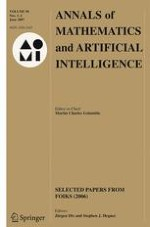 Annals of Mathematics and Artificial Intelligence 1-2/2007