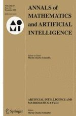Annals of Mathematics and Artificial Intelligence 3-4/2009