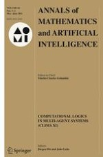 Annals of Mathematics and Artificial Intelligence 1-2/2011