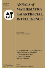 Annals of Mathematics and Artificial Intelligence 1-3/2013